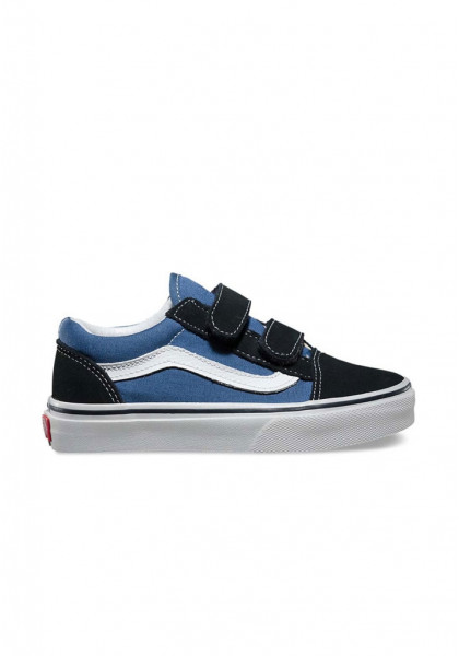 SCARPE SKATEBOARD VANS OLD SKOOL V NAVY TRUE WHT
