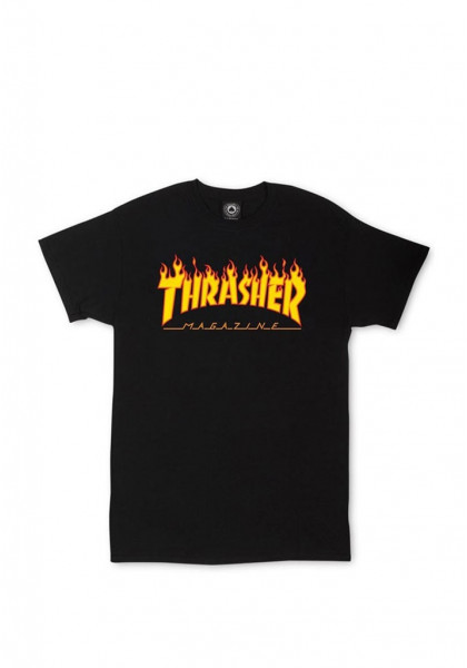 THRASHER FLAME T-SHIRT BLACK