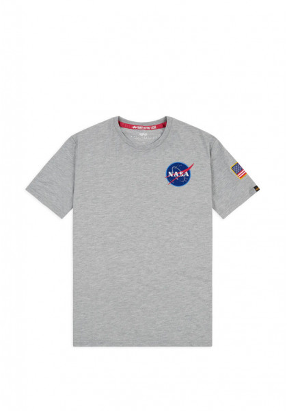 T-SHIRT MANICHE CORTE UOMO ALPHA INDUSTRIES SPACE SHUTTLE T-SHIRT GREY HEATHER