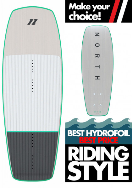 HYDROFOIL NORTH KITEBOARDING SENSE FOIL BOARD 100 WHITE