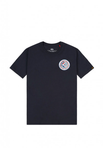 T-SHIRT MANICHE CORTE UOMO ALPHA INDUSTRIES APOLLO 15 REP BLUE