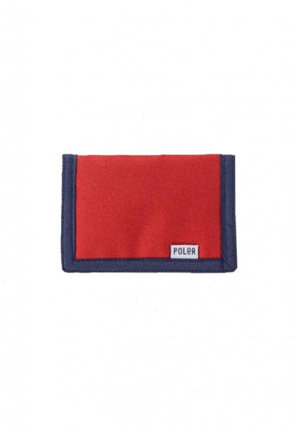 poler-tri-fold-wallet-mud-red