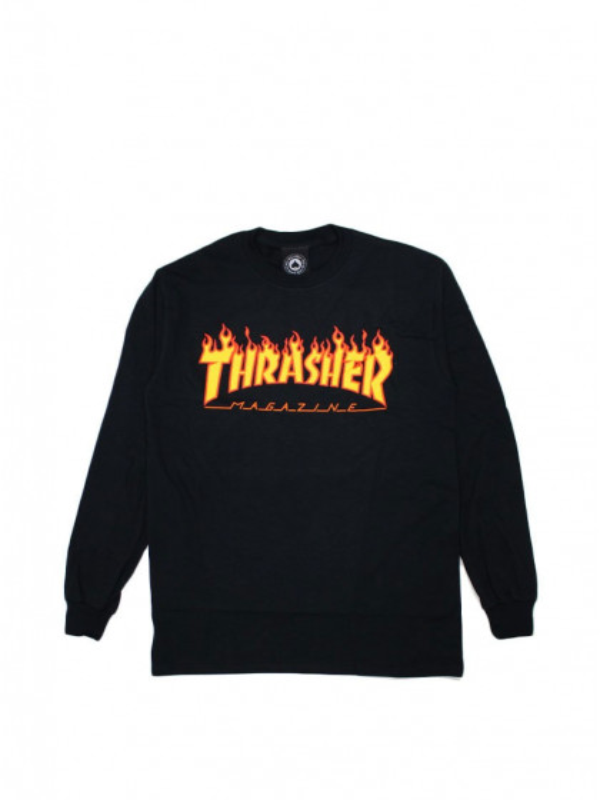 t-shirt-maniche-corte-uomo-thrasher-flame-longsleeve-black
