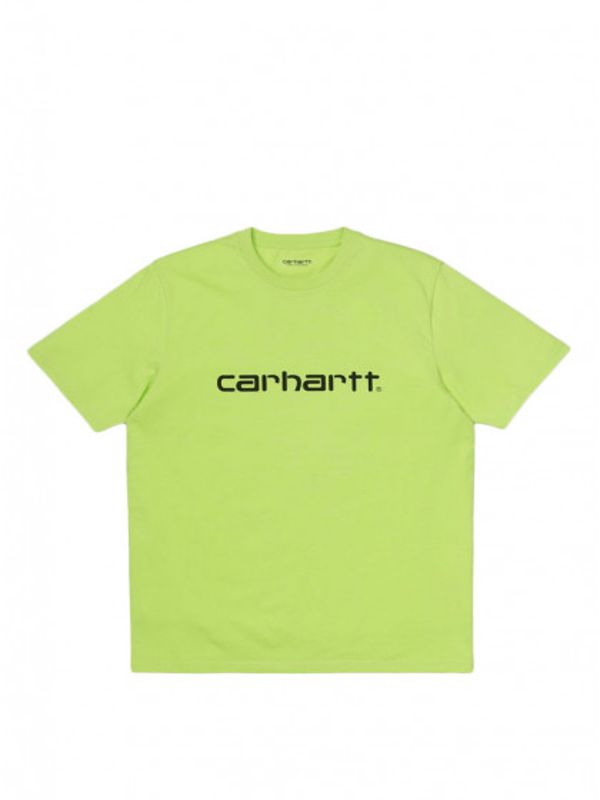 t-shirt-maniche-corte-uomo-carhartt-script-t-shirt-lime-black