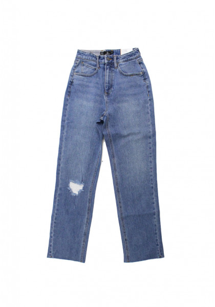 pantalone-jeans-short-donna-volcom-stoned-straight-pant-standard-issue-blue