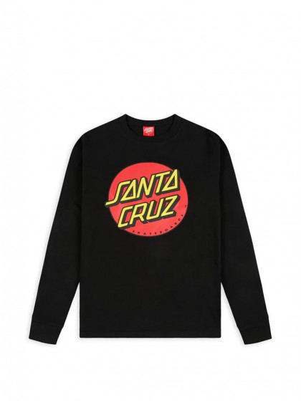 t-shirt-maniche-lunghe-uomo-santa-cruz-classic-dot-l/s-t-shirt-black