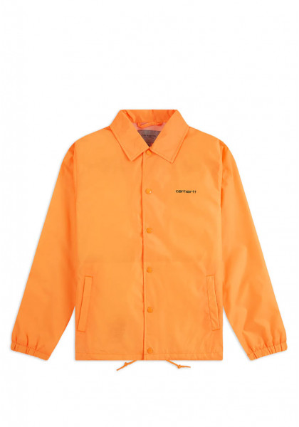 giacca-uomo-carhartt-script-coach-jacket-pop-orange-black