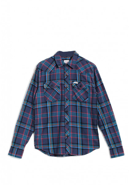 camicia-maniche-lunghe-uomo-topo-design-mountain-shirt-royal-navi-plaid