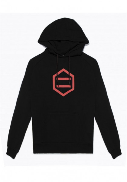 felpa-cappuccio-uomo-dolly-noire-hexagon-hoodie-black-red