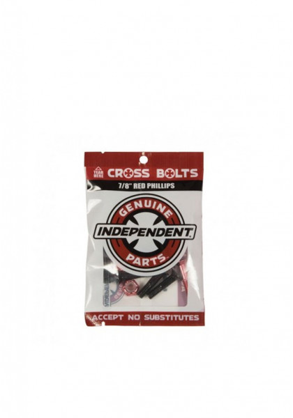 """accessorio-skateboard-independent-cross-bolts-7/8""""-red-phillips"""