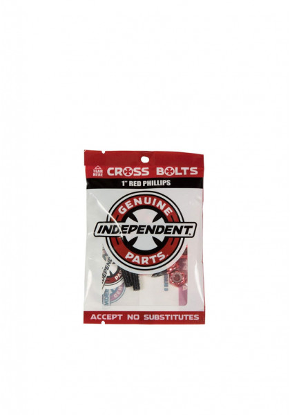 """accessorio-skateboard-independent-cross-bolts-1""""-red-phillips"""