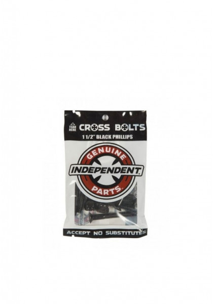 """accessorio-skateboard-independent-cross-bolts-1-1/2""""-black-phillips"""