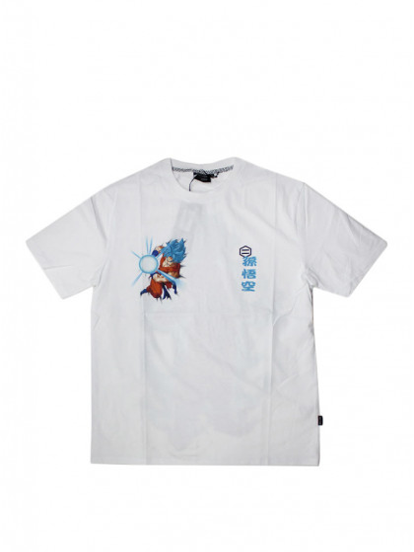 t-shirt-maniche-corte-uomo-dolly-noire-goku-super-sayan-god-white