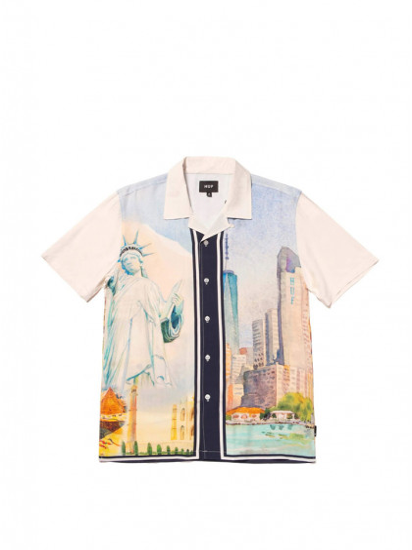 camicia-maniche-corte--uomo-huf-prestige-s/s-resort-shirt-white