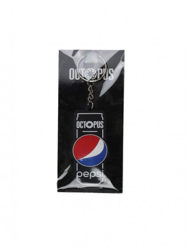 accessorio-octopus-pepsi-logo-keychain-black