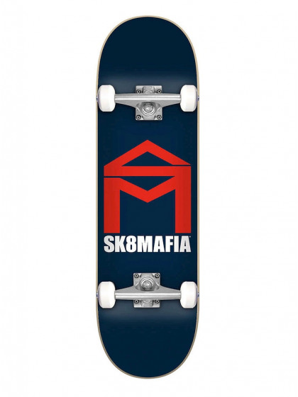 "skateboard-completo-sk8mafia-house-logo-navy-7.87""-x-31.60"""