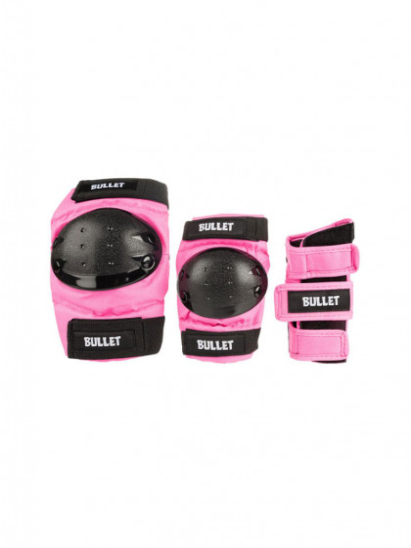 caschi-|-protezioni-skateboard-bullet-triple-padset-standard-combo-junior-pink
