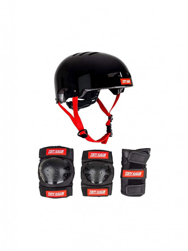caschi-|-protezioni-skateboard-tony-hawk-protective-set-helmet-&-padset-black-red