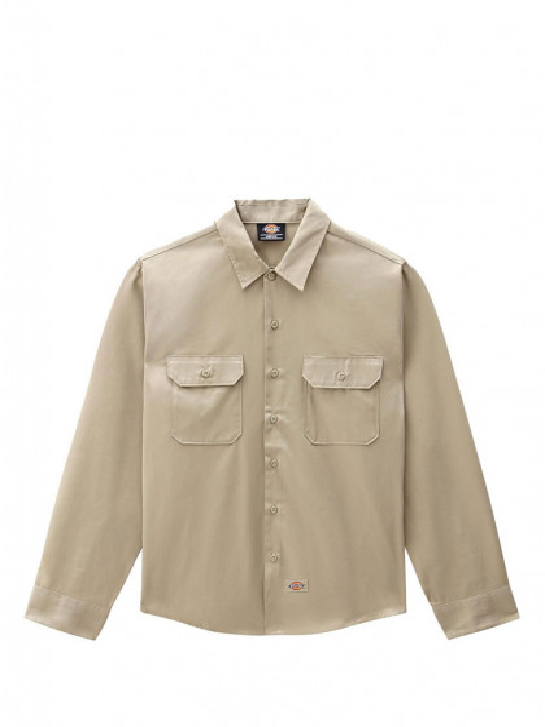 camicia-maniche-lunghe-uomo-dickies-l/s-work-shirt-khaki