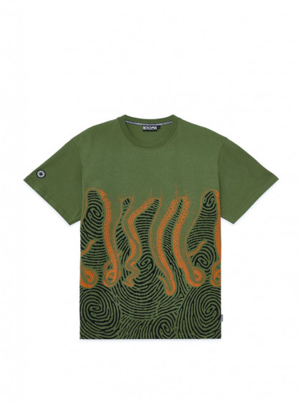 t-shirt-maniche-corte-uomo-octopus-fingerz-tee-army