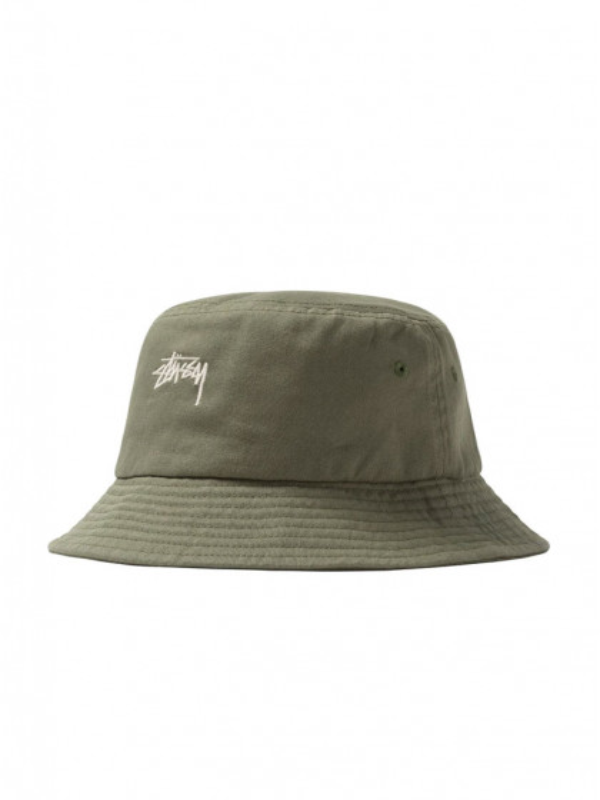 cappellino-stussy-stock-bucket-hat-light-olive