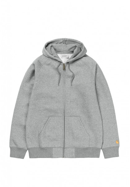 giacca-uomo-carhartt-hooded-chase-jacket-grey-heather-gold