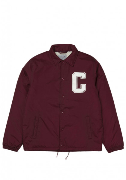 giacca-uomo-carhartt-pembroke-pile-coach-jacket-mulberry-white