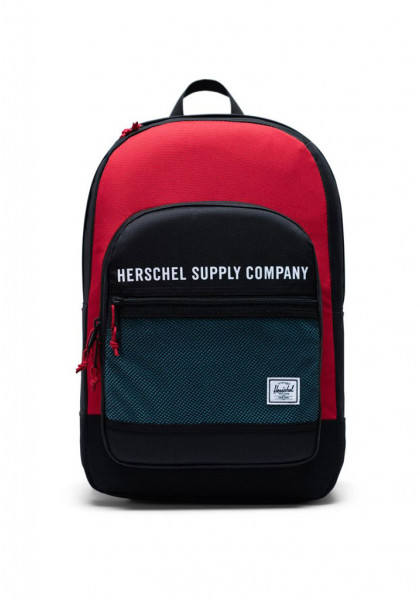 zaino-herschel-kaine-backpack-black-red-bachelor-button