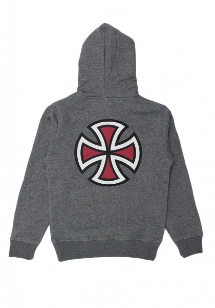 felpa-cappuccio-bambino-independent-youth-bar-cross-hood-dark-heather