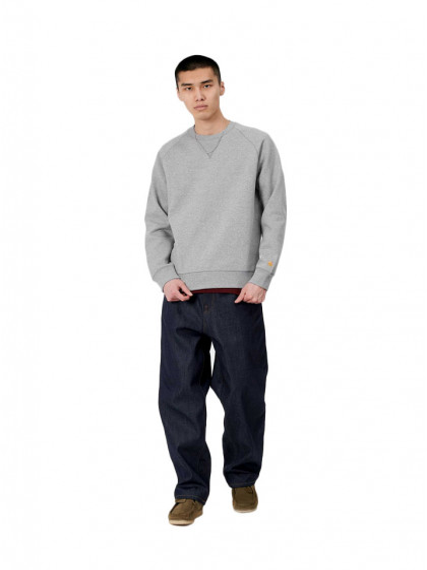 felpa-girocollo-uomo-carhartt-chase-sweatshirt-grey-heather-gold