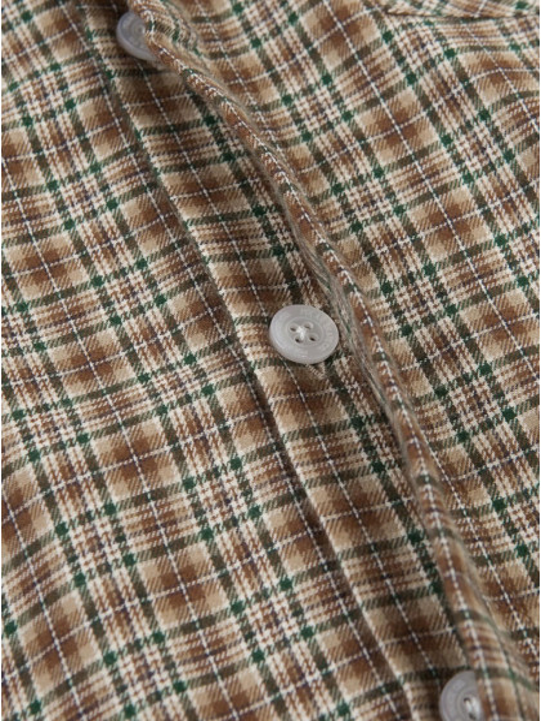 camicia-maniche-corte--uomo-polar-skate-co.-mitchell-flanel-shirt-brown