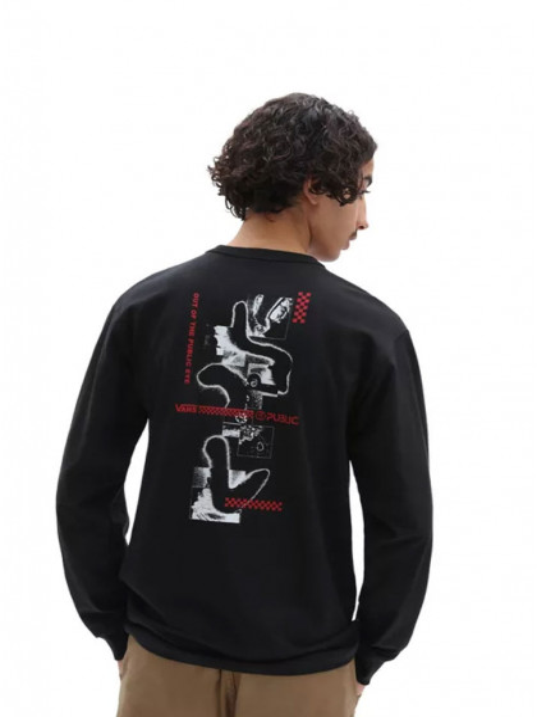 t-shirt-maniche-lunghe-uomo-vans-vans-x-public-snow-ls-black