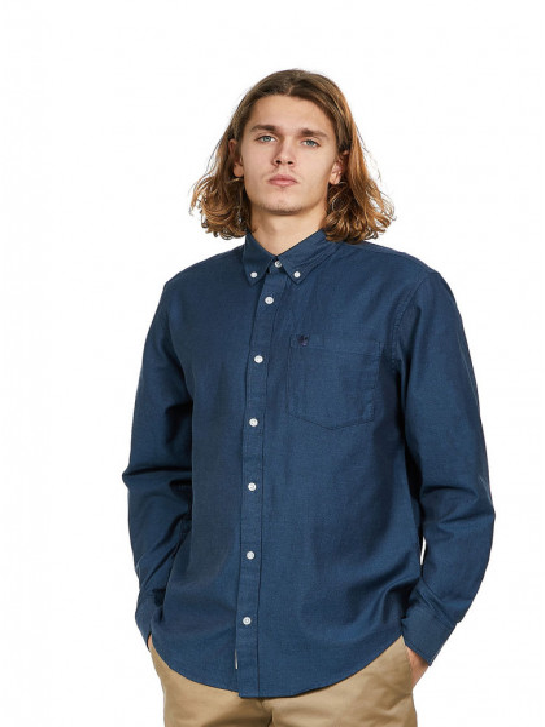 camicia-maniche-lunghe-uomo-carhartt-l/s-dalton-shirt-dark-navy-skydive
