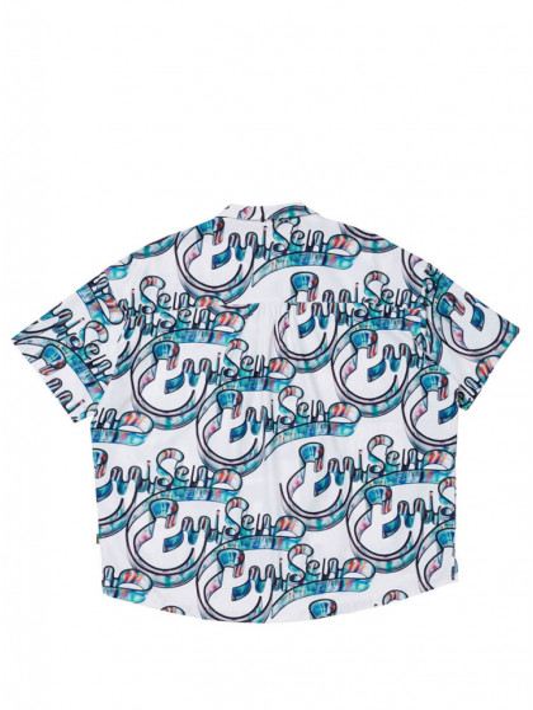 camicia-maniche-corte--uomo-evisen-skateboards-vidro-shirt-white