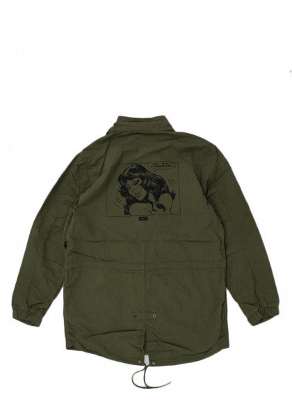 giacca-uomo-huf-feels-good-fishtail-parka-olive