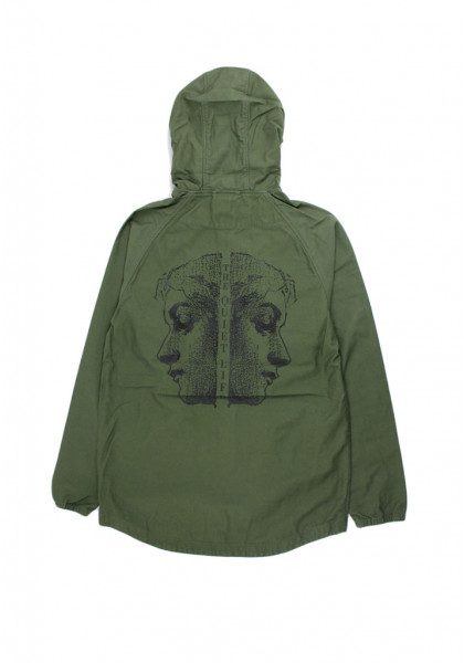 giacca-uomo-quiet-life-face-off-hooded-jacket-army
